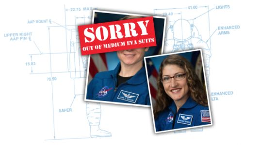 The First All-Female Spacewalk Can't Happen Because They Don't Have Enough Spacesuits That Fit