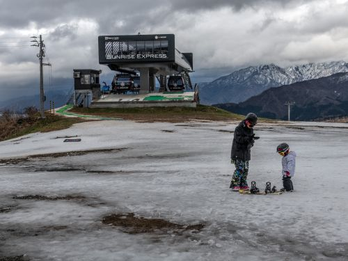 Photos of abandoned ski lifts and snow-less slopes reveal the toll that rising temperatures are taking on winter resorts