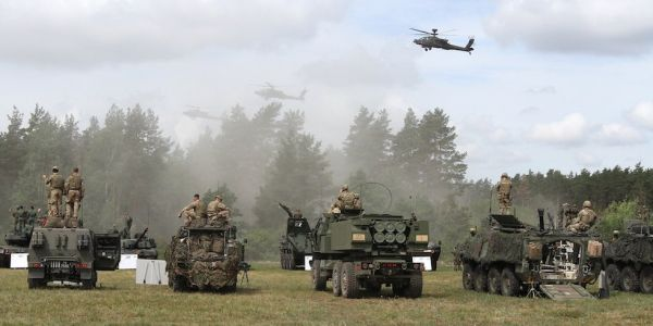 Check out these photos of the US military drills in Europe that have Russia spooked