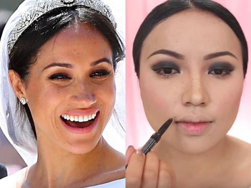 A woman transformed herself into Meghan Markle using only makeup - and she even got her freckles spot on