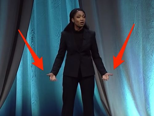 The newest public speaking world champion beat 30,000 other competitors by using a body-language trick she learned from a past winner