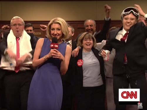 Republican lawmakers hold a raucous victory party celebrating Kavanaugh's confirmation in 'SNL' cold open