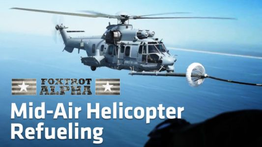 Air-To-Air Helicopter Refueling Stills Gives Me The Willies