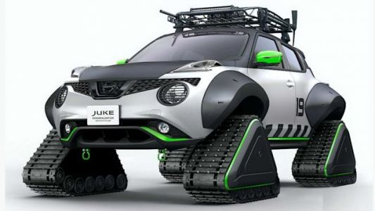 Another Nissan Juke Has Been Assailed By Tracks Instead Of Wheels Disease