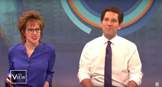 Paul Rudd played an unrelatable Pete Buttigieg visiting 'The View' on 'SNL'