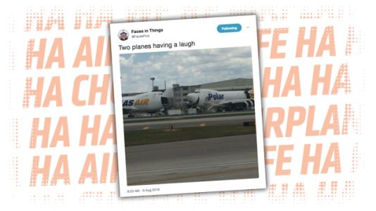 Tell Us What The Hell These Two Planes Think Is So Damn Funny