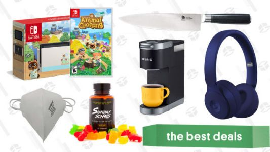 Wednesday's Best Deals: Animal Crossing Switch Console, KYOKU Knife Block, Sunday Scaries CBD Gummies, Beats Solo Pro, N95 Masks, and More