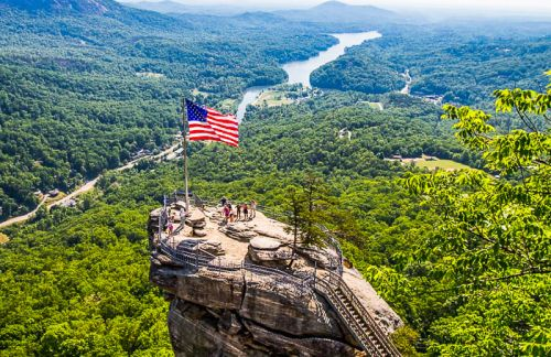Climb 499 Steps To The Top of Chimney Rock, NC for Incredible Views!