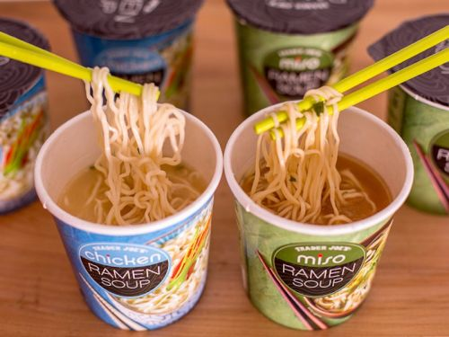 Trader Joe's is now selling ramen cups - and they're basically a fancy version of those instant noodles you were eating in college