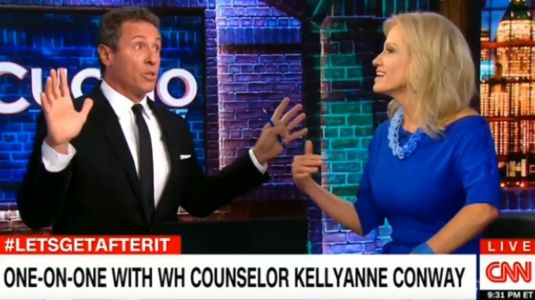 Kellyanne Conway and Chris Cuomo squeezed a week's worth of news into one wild 30 minute debate on CNN