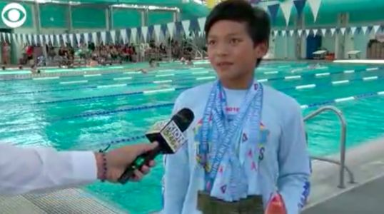 A 10-year-old boy named Clark Kent just beat a swimming record set by Michael Phelps 23 years ago