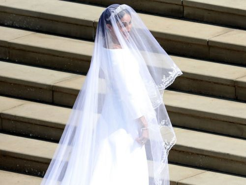 Meghan Markle wore a 16-foot long, embroidered veil for her wedding
