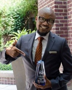 Them Nyamunongo of Four Seasons Hotel Washington Outstanding Lodging Employee of the Year