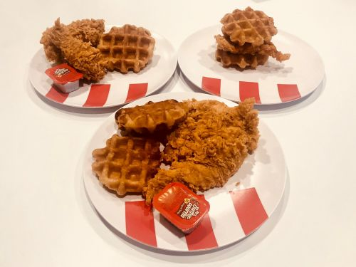 I tried KFC's 3 new chicken and waffle dishes, and there was a clear winner