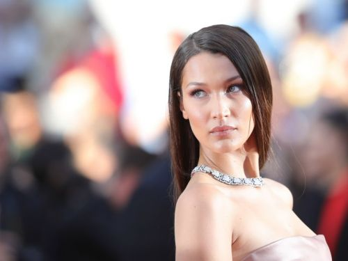 Bella Hadid posed in a $2,290 Fendi skirt for a campaign - but all anyone can focus on is how shiny it is