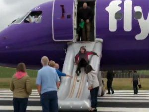 Flybe flight fills with smoke, evacuation at Exeter airport