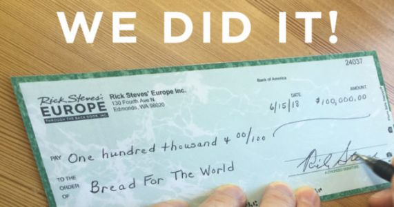 We Did It! $232,000 to Bread for the World