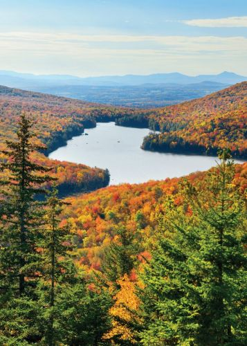 Fall Postcard: Leaf-Peeping in Vermont