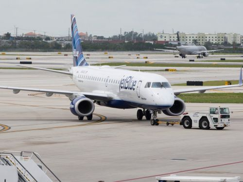 A JetBlue plane was forced to make an emergency landing after colliding with a bird