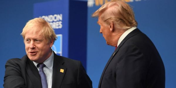 Boris Johnson mocked Trump's boastfulness as he told him to 'dial down' his conflict with Iran
