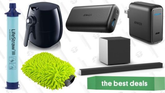 Saturday's Best Deals: Dolby Atmos, Philips Airfryer, $10 LifeStraw, and More