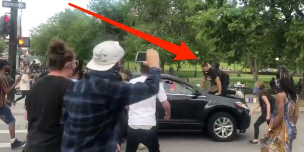 Video shows a protester in Denver getting hit by a car during a mass demonstration over George Floyd's death