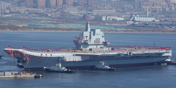 China's navy is tightening rules for the crew of its first home-built aircraft carrier to combat coronavirus