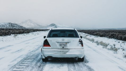 The Cautionary Tale of an Idiot, a Mercedes C43 AMG, Bald Tires and 2,000 Miles of Blizzard
