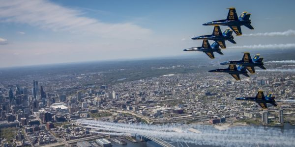When and where you can see Navy Blue Angels and Air Force Thunderbirds flying to honor COVID-19 responders