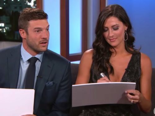 Jimmy Kimmel quizzed the winning 'Bachelorette' couple on how well they know each other - watch