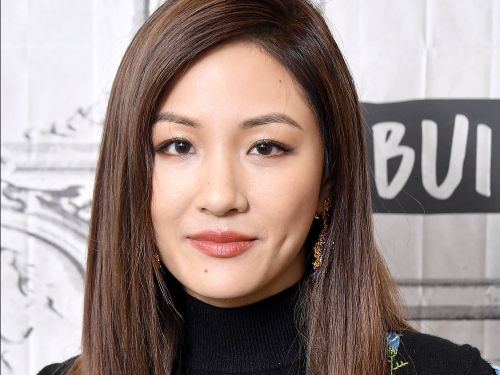 Constance Wu stepped out in mismatched florals - and she totally pulled off the daring look