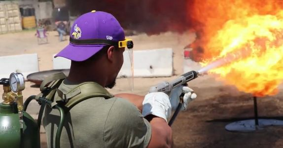 Green Berets are using flamethrowers to help the NFL build strong teams this football season