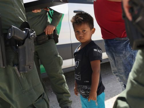 A young girl separated from her aunt at a Border Patrol facility had to get her diapers changed by other children