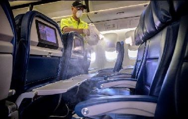 Delivering on new clean standard, Delta sanitizing every flight