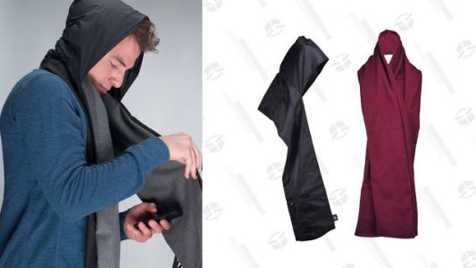 The RainScarf Is Hooded, Reversible, Waterproof, and On Sale For $16