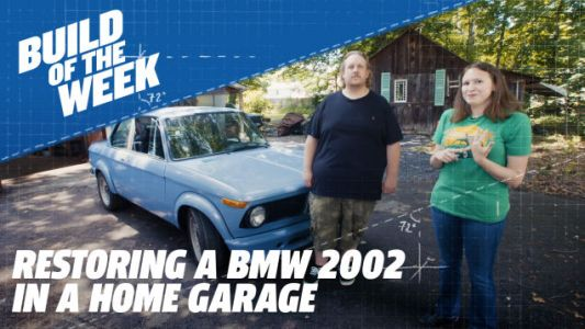This Guy Restored a BMW 2002 With Whatever He Could Find, Including a Tree Stump