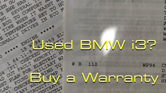 Staff Car Update: Why You Want To Get An Extended Warranty With Your Used BMW i3