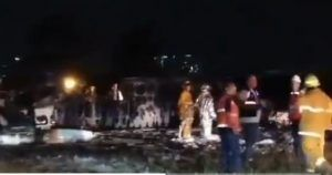 Plane with medical aid burst into flames at Manila Airport