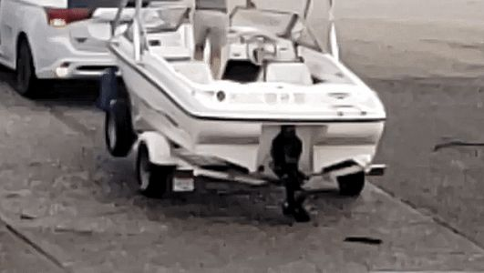 Man Nearly Run Over After Jumping out of a Boat Pulling His Car Into the Sea