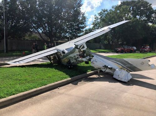 A Drug Enforcement Agency plane collided with a Tesla Model X as it crash-landed on a Texas street