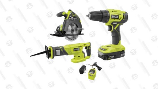 This RYOBI Power Tool Set Includes a Cordless Drill, Circular Saw, and Reciprocating Saw for $99-$177 off the List Price!