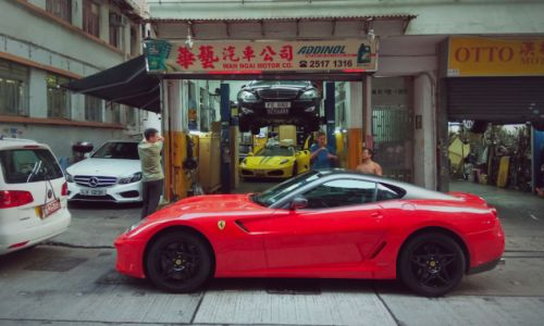 I'm not sure many American exotic car owners would want their vehicles worked on in a shop as tiny a
