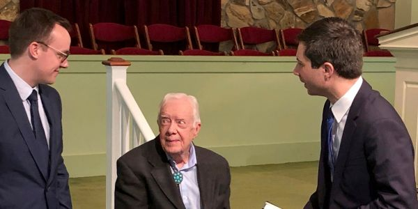Pete Buttigieg went to Jimmy Carter's Sunday school class and the former president invited him to read from the Bible