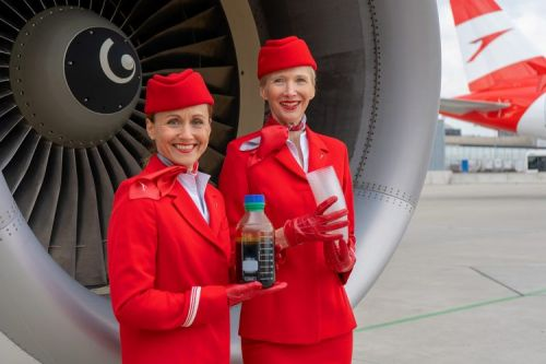 OMV innovation project produces synthetic crude from Austrian Airlines plastic cups