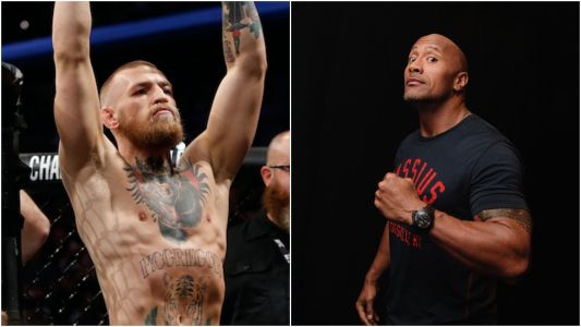 The Rock reached out to his 'bro' Conor McGregor on Instagram - and the pair are gushing over each other's work ethic