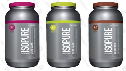 Grab a Three Pound Tub of Isopure Protein Powder For Under $30, Today Only