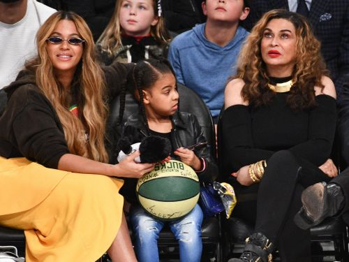 Blue Ivy sassed her grandma Tina Knowles for breaking the rules in a theater - and fans just can't handle the video