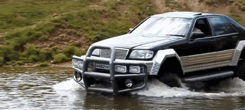 This Mercedes S-Class On A Russian 'GAZ' Frame Is The Off-Road Frankenstein The World Needs