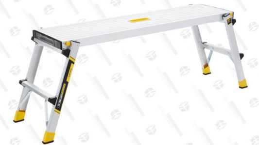 With This Handy $25 Work Platform, You Can Easily Trim a Christmas Tree As Big As Clark Griswold's