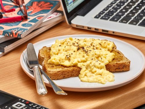 A budget supermarket is selling ready-made scrambled eggs for $2 a portion - but you could scramble fresh eggs in the time it takes to heat them up